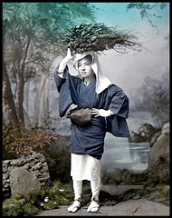 Collodion Emulsion (Wet Plate) Photo on Glass from OLD JAPAN (12)