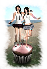 Cupcakes ([MaiMai]) Tags: family pink cute love photoshop happy photography truth sweet anniversary sl mai cupcake secondlife atomic cisse
