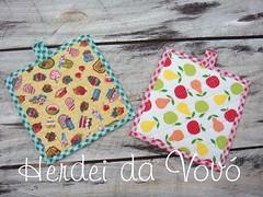 Joguinho porta prato quente (Herdei da Vov) Tags: artesanato patch patchwork manualidades bordado