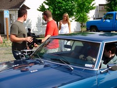 Attaching a car rig to our 69 Firebird to shoot the newlyweds.