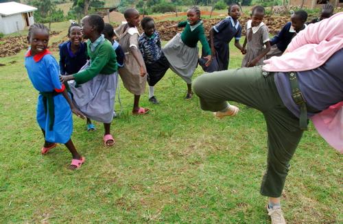 Taekwondo with the girls