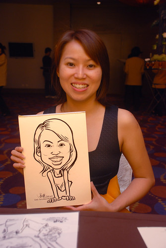 Caricature live sketching for Standard Chartered Bank - 11