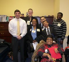 Senator Peters with members of the Arc of Prince Georges County