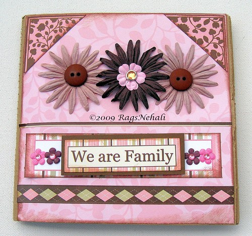 """We are FAMILY"" Premade Scrapbook Paper Bag Album"