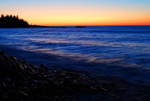 colorful lake superior sunrise