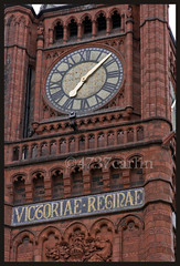 Victoria Clock Tower (Brian Sayle) Tags: old england building brick tower liverpool canon victorian grade clocktower height listed tallbuilding 70200mm merseyside gothicrevival victoriatower victoriabuilding alfredwaterhouse canon70200mm gradeii brownlowhill universityofliverpool gradeiilisted canonef70200mmf4lusm ruabon 400d canon400d victoriaclocktower 4737carlin redbrickuniversity ruabonbrick
