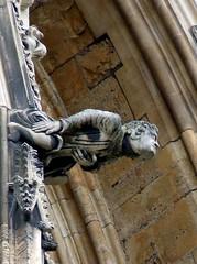 Leap of faith (buddah1888) Tags: york england detail high cathedral stonework gargoyle ornate minster precarious fuji5600
