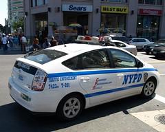 NYPD Toyota Prius Traffic Enforcement Police Car, Bronx NYC (jag9889) Tags: city nyc blue ny newyork car automobile ebay traffic bronx parking fordham police nypd prius transportation toyota vehicle enforcement hybrid department lawenforcement finest firstresponders binc newyorkcitypolicedepartment y2009 jag9889