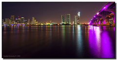 It's Been a While... (Fraggle Red) Tags: bridge pink blue night reflections raw florida miami earlymorning canonef1740mmf4lusm watsonisland downtownmiami 620am i395 vob beforedawn biscayneblvd bej macarthurcswy abigfave anawesomeshot hdrqueen miamidadeco adobelightroom24