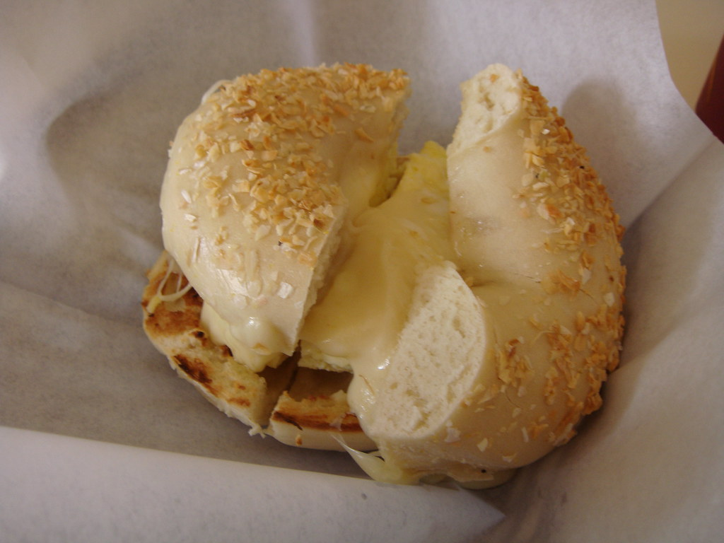 Egg & Swiss Onion Bagel