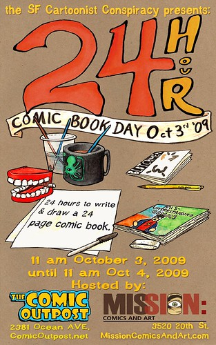 24 Hour Comic Day in San Francisco