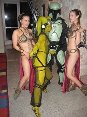 IMG_1678 (bazooked1) Tags: star costume dragon cosplay boba wars 2009 con dragoncon leia oola slave fett