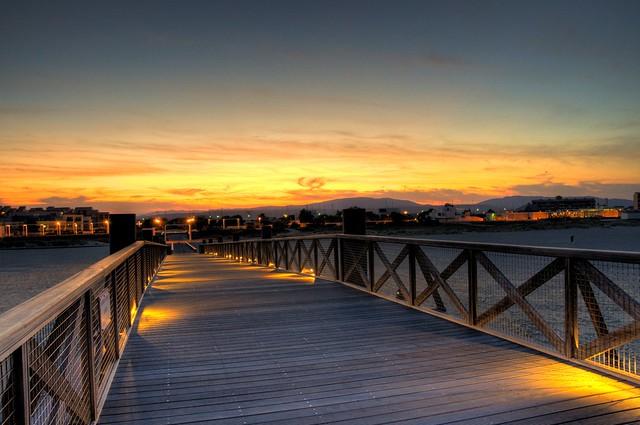 Coucher de soleil à Port-Leucate