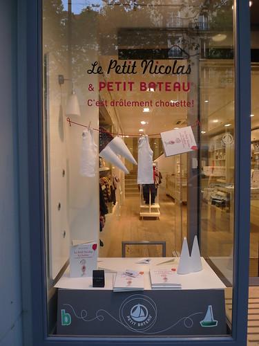 Vitrine Petit Bateau et Petit Nicolas - septembre 2009