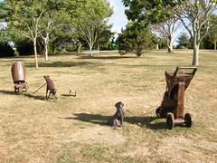 2008-01-27-Stoneleigh-2007-22-06-Baby Buggies (russellstreet) Tags: newzealand sculpture auckland nzl manukau greertwiss aucklandbotanicalgardens babybuggies sculpturesinthegarden2007 stoneleighsculpturesinthegarden2007