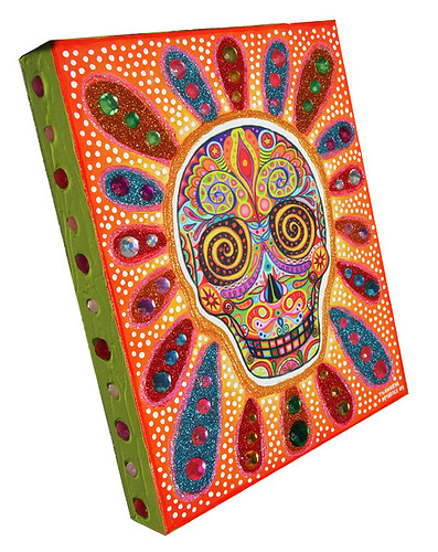 day of dead skull. Day of the Dead skull art