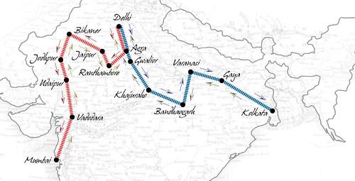 Route Maps of the Maharajas' Express (India)