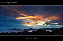 Flaming sky (liewwk - www.liewwkphoto.com) Tags: sky sunrise landscape hill highland malaysia genting pahang gentinghighland naturesfinest liewwk