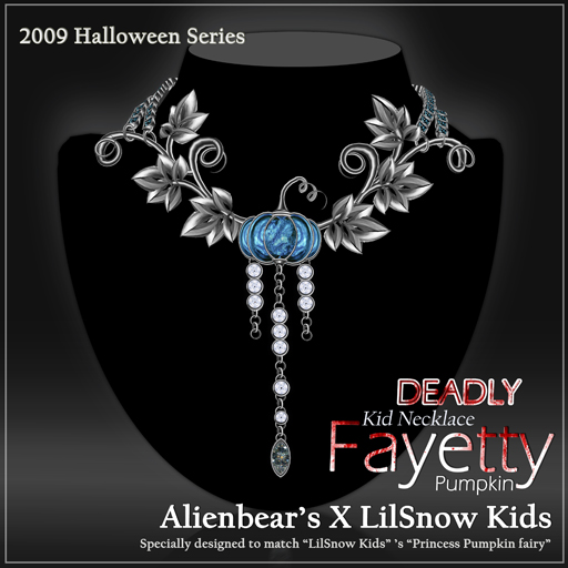 Fayetty Deadly Pumpkin kid necklace