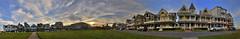 Ocean Pathway (grifflotz) Tags: street houses sunset panorama beach grass victorian nj og shore jerseyshore hdr oceangrove greatauditorium oceanpathway