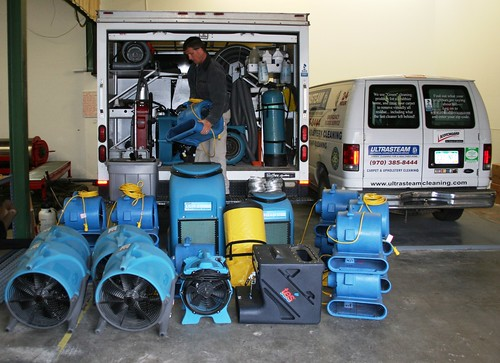 Loading Equipment for Flood Cleanup and Water Damage
