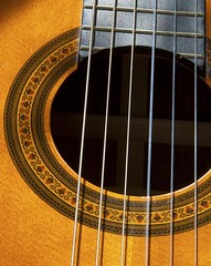 Guitar sound hole (PeterChad) Tags: uk england art canon photography europe photos guitar soundboard spanish classical strings fret soundhole spruce nylon fotocompetition fotocompetitionbronze welcomeuk