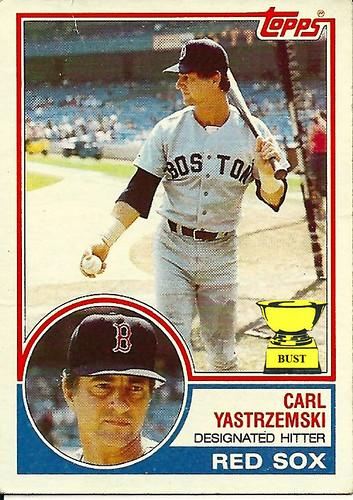 Baseball Card Bust Carl Yastrzemski 1983 Topps