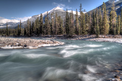Chilly Flow (Vinnyimages) Tags: canada canon flow jasper alberta canon5d rockymountains jaspernationalpark athabasca parkscanada 1740l sunwaptariver hyw93 riverhdrrivertripodtripchillyflowchilly vinnyimages wwwvinnyimagescom vinnyimagescom