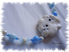 Happy Little Cloud Necklace ( Cateaclysmic ) Tags: blue cloud white storm rain weather happy necklace hand little handmade drop made fimo clay etsy tear polymer