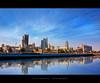 Kuwait City ~ HDR (alvin lamucho ©) Tags: blue clouds buildings reflections seaside october muslim islam towers smooth middleeast bank mosque kuwait nationalassembly kuwaitcity gulfroad parliamentbuilding pritzkerprize legislativebuilding canon450d rebelxsi alvinlamucho danisharchitect