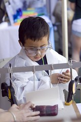 boy in lab coat