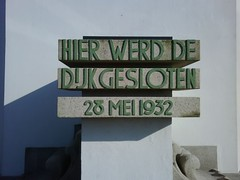 Art Deco lettering on the Afsluitdijk Monument