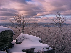 Fading Light (Nicholas_T) Tags: winter sky snow clouds forest landscape lowlight dusk hiking pennsylvania creativecommons deciduous appalachiantrail bluemountain appalachianmountains stratocumulus monroecounty kittatinnymountain wolfrocks northamptoncounty