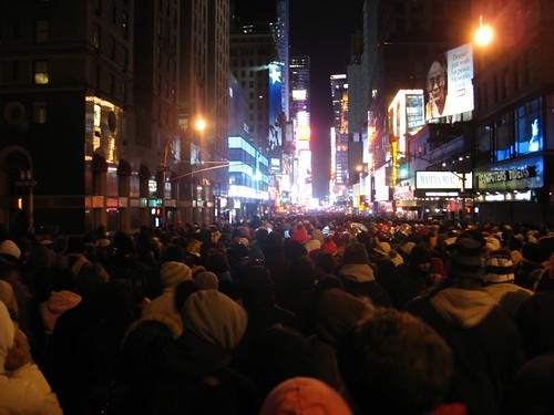 new york city: ball, times square, new years eve, 12 degrees fahrenheit