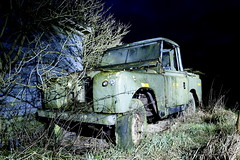 20090114 Out of time (SteenT) Tags: flash 1966 365 88 landrover strobe lightpaint project365 steentalmark talmark
