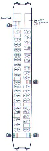 Train Chartering - National Express East Coast (formerly GNER) Standard Class plan