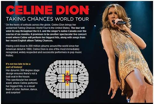 Celine Dion vine in Atlanta. Anunt. by you.