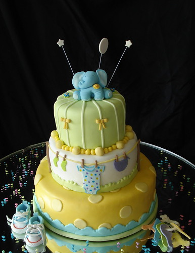 Elephant baby shower cake by Eve Marzan