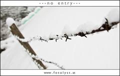 no entry (G.Hotz Photography (busy as a bee =)) Tags: winter portrait people food lake snow ice photography austria dornbirn feldkirch sterreich stillleben foto fotograf fotografie hard bregenz gerald photograph bodensee constance bludenz oesterreich vorarlberg produkt hotz hochzeitsfotograf ondarena fotolyst