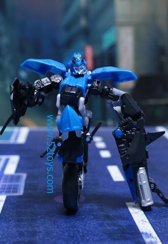 Transformers 2 moto azul robot