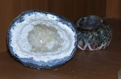 Faux Geode 1 (Sandor the Hun) Tags: cement artificial plaster manmade geode crystalgrowingkit