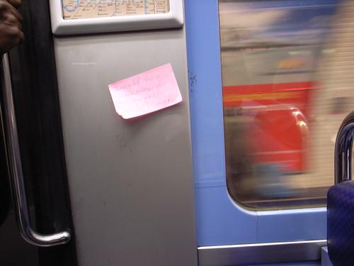 Metro post-it