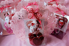 The Lollipop Guild All Packaged Up (fullofbliss) Tags: pink red cute bunnies glitter kids hearts fun candy sweet craft cupcake foam valentines charms lollipops valentinesday pipecleaners chenille doilies blowpops poofballs