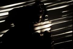 8.42AM (rakelchavez) Tags: morning light woman selfportrait luz window face ventana stripes autoretrato