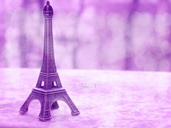 We Love Paris... (*Zoha.Nve) Tags: texture nikon purple bokeh eiffeltower eiffel souvenir bubble zoha 365days souvenirfromparis zohan nikonp5100 nikoncoolpixp5100  bubbletexture