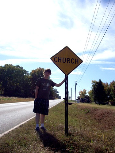 Church warning sign Alabama