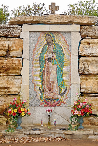 Our Lady of Guadalupe Roman Catholic Church, in Ferguson, Missouri, USA - mosaic of Our Lady of Guadalupe