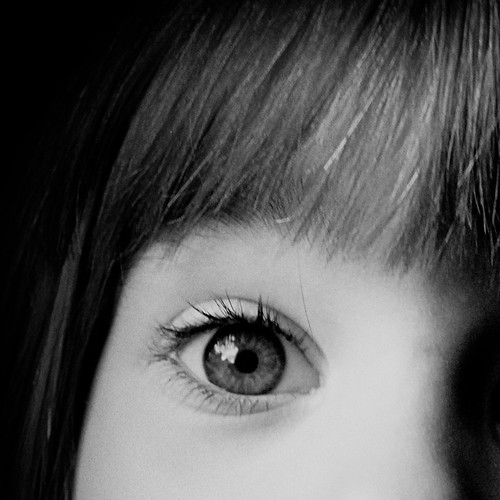 eyes in black and white {crop 4} by you.