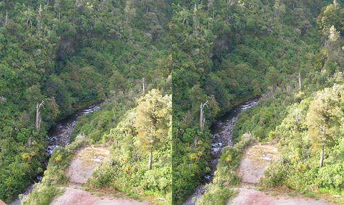 Gorge and River as seen from Train in 3D