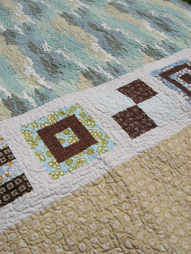 Mod Sampler Quilt Along Back Detail